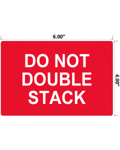 Do Not Double Stack Preprinted Labels