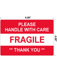 Fragile Handle With Care Preprinted Labels