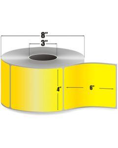 <span><span>4 x 6</span></span> Thermal Transfer Labels  - Yellow