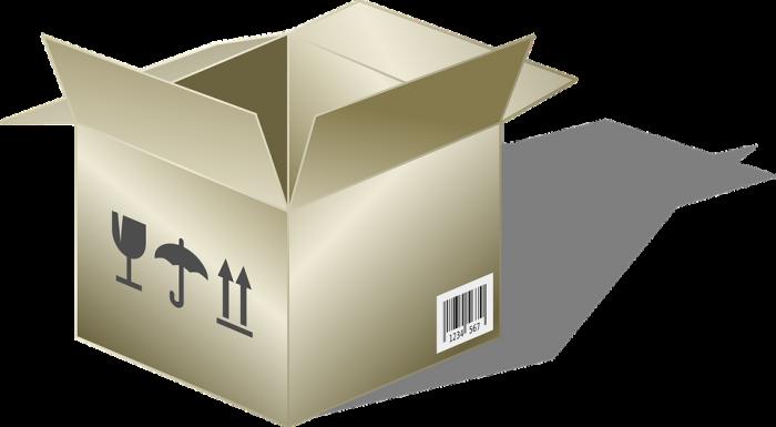 cardboard box labels