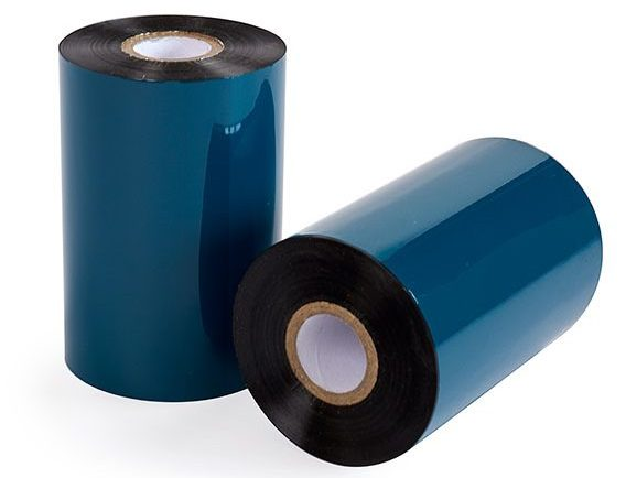 Rolls of ribbon for labels to be used on a thermal transfer ribbon