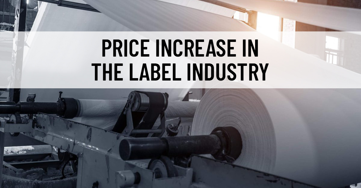 Price increase in the label industry