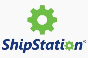 A logo for Shipstation, a shipping platform.