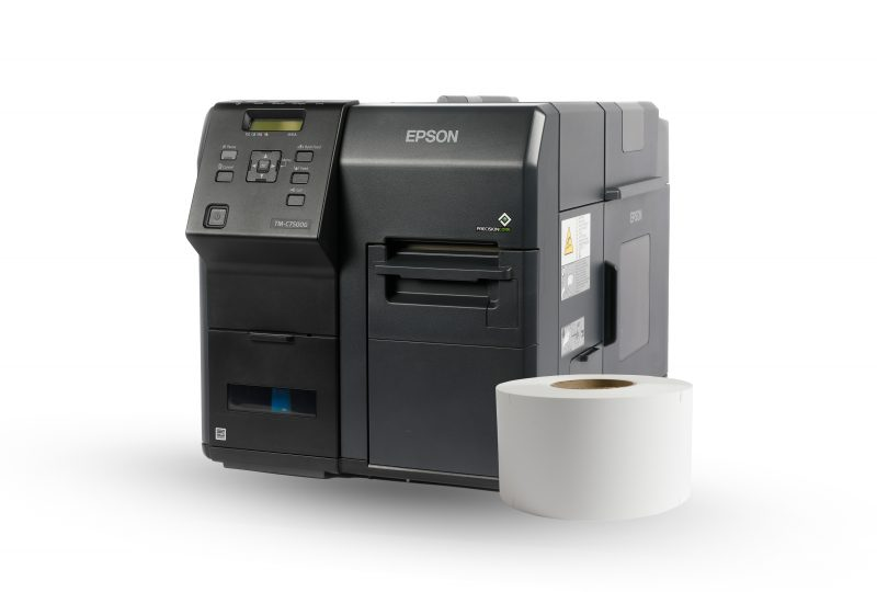 """An Epson inkjet printer with a 3"""" core roll"""