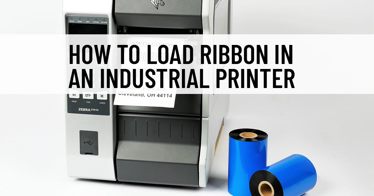 How to Load Ribbon into an Industrial Printer