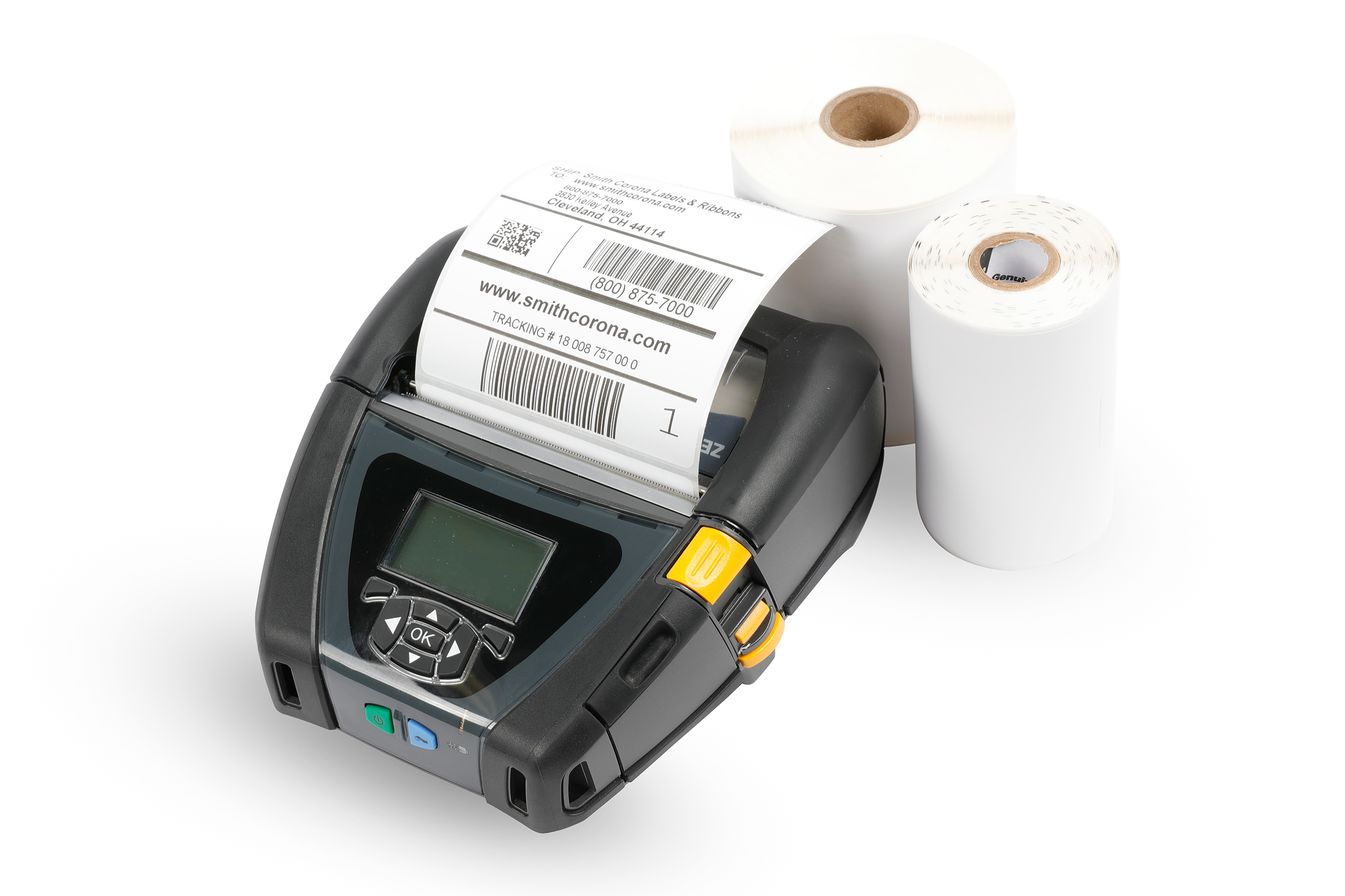 A direct thermal mobile printer with direct thermal labels