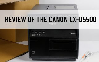 A Canon LX_D5500 inkjet printer is featured