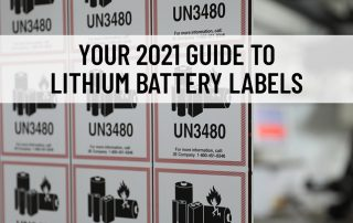Lithium batteries require many rules and regulations in order to be packaged and shipped properly