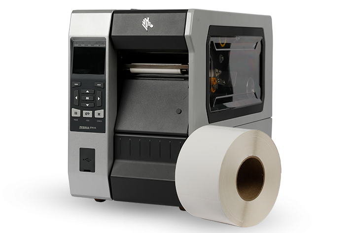 A Zebra ZT610 industrial printer is capable of high volume prints at fast speeds