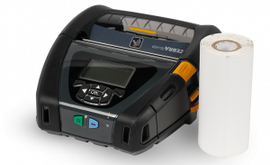 A Zebra QLN420 mobile printer uses direct thermal labels for on the go solutions
