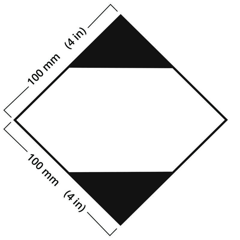 An image showing a limited quantity label with the dimensions included for size accuracy