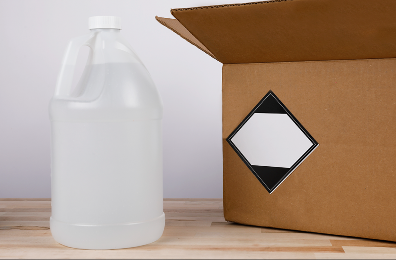 Inner packaging for limited quantity can be plastic bottles, jugs, metal cans, etc.