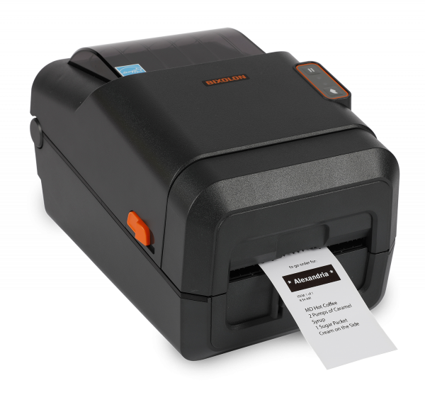 A Bixolon LX5-40 is a desktop linerless printer that specifically uses only linerless labels