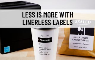 Linerless labels are a sustainable option for business looking to reduce waste as they are made with no liner