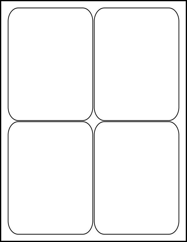 """4"""" x 5"""" - Laser sheet Labels (4 up)"""