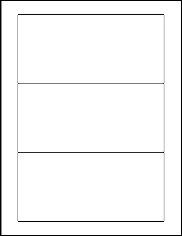 """8"""" x 3.5"""" - Laser Sheet Labels (3-Up)"""