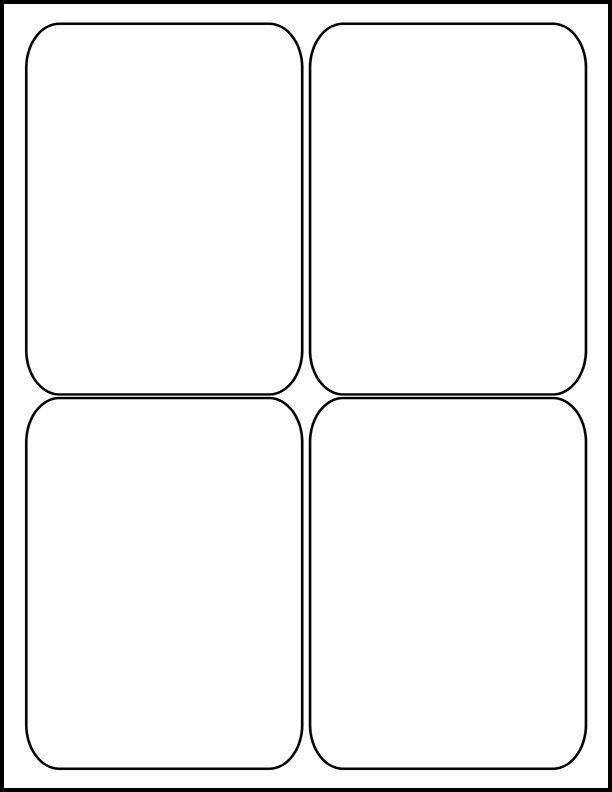 """3.5"""" x 5"""" - Laser Sheet Labels (4-Up)"""