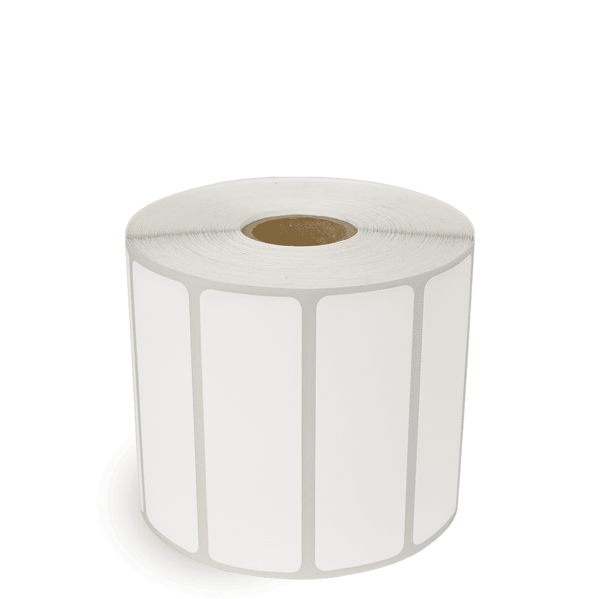 "3"" x 1"" White Matte Paper - Thermal Transfer Labels - 1"" Core"