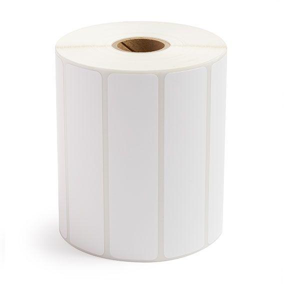 "4"" x 1"" White Matte Paper - Thermal Transfer Labels - 1"" Core"