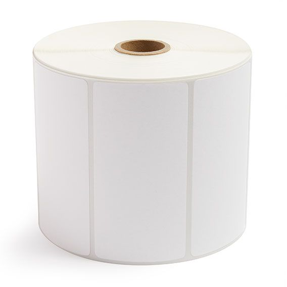 """4"""" x 2"""" White Matte Paper - Thermal Transfer Labels - 1"""" Core / 5"""" Outer Diameter"""