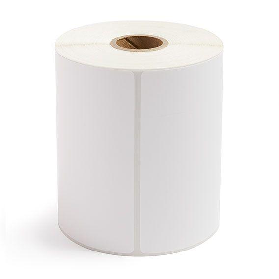 "4"" x 4"" White Matte Paper - Thermal Transfer Labels - 1"" Core"