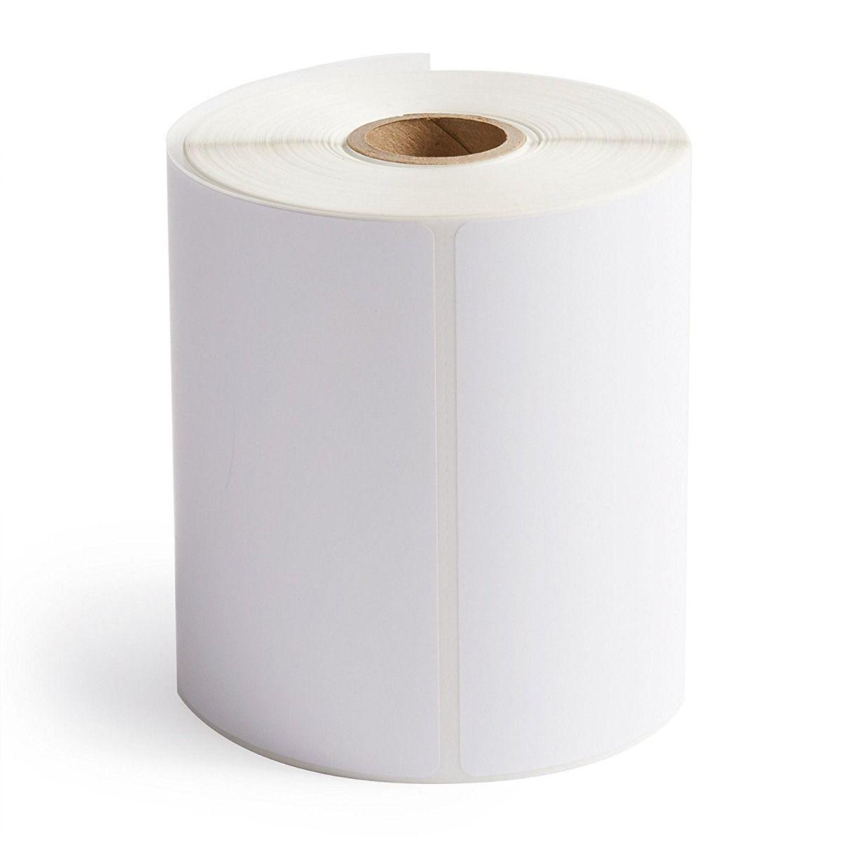"4"" x 8"" White Matte Paper - Thermal Transfer Labels - 1"" Core"