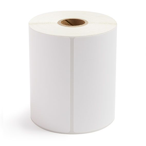 """4"""" x 6"""" White Matte Paper - Direct Thermal Labels - 1"""" Core"""