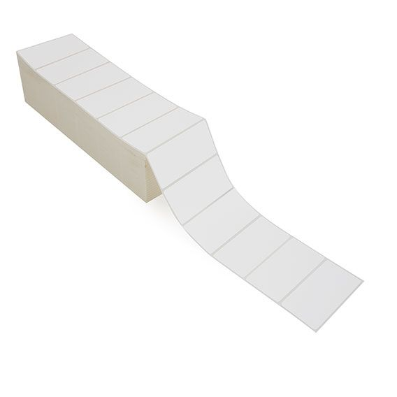 """4"""" x 2"""" White Matte Paper - Thermal Transfer Labels - Fanfold"""