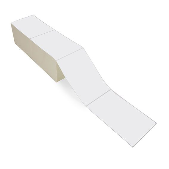 """4"""" x 6"""" White Matte Paper - Thermal Transfer Labels - Fanfold"""