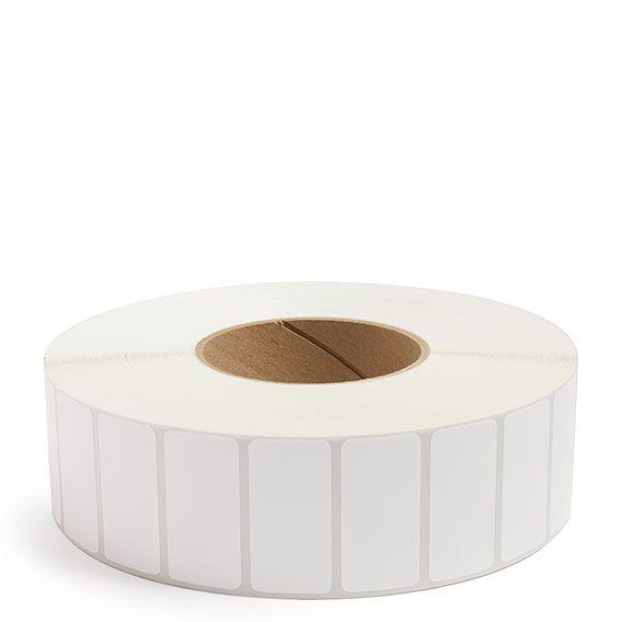 "2"" x 1"" White Matte Paper - Thermal Transfer Labels - 3"" Core"