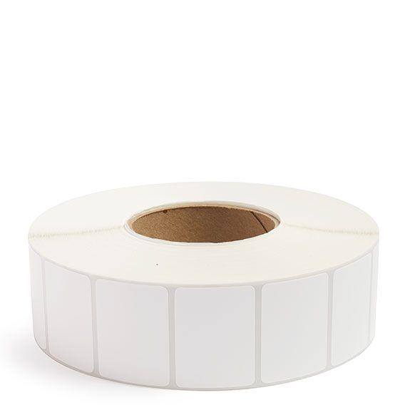 "2"" x 1.5"" White Matte Paper - Thermal Transfer Labels - 3"" Core"