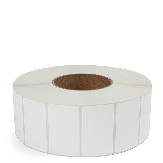 "2.5"" x 1.5"" White Matte Paper - Thermal Transfer Labels - 3"" Core"
