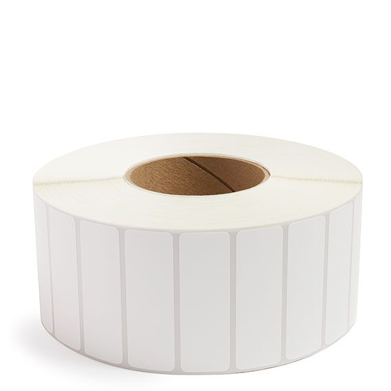 "3"" x 1"" White Matte Paper - Thermal Transfer Labels - 3"" Core"