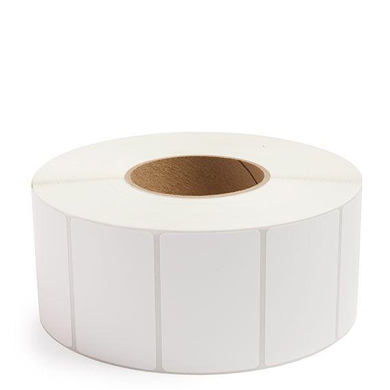 "3"" x 2"" White Matte Paper - Thermal Transfer Labels - 3"" Core"