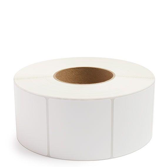 "3"" x 3"" White Matte Paper - Thermal Transfer Labels - 3"" Core"