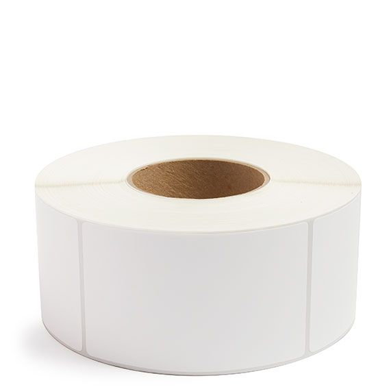 "3"" x 5"" White Matte Paper - Thermal Transfer Labels - 3"" Core (No Perf)"