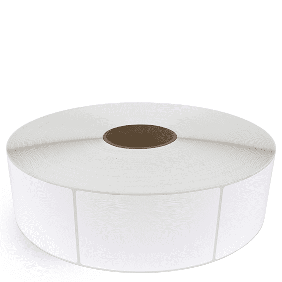 """3"""" x 5"""" White Matte Paper - Thermal Transfer Labels - 3"""" Core / 12"""" Outer Diameter (No Perf)"""
