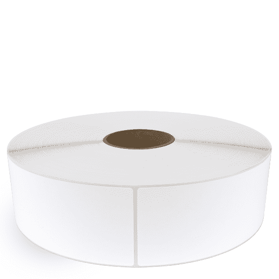 """3"""" x 10"""" White Matte Paper - Thermal Transfer Labels - 3"""" Core / 12"""" Outer Diameter (No Perf)"""