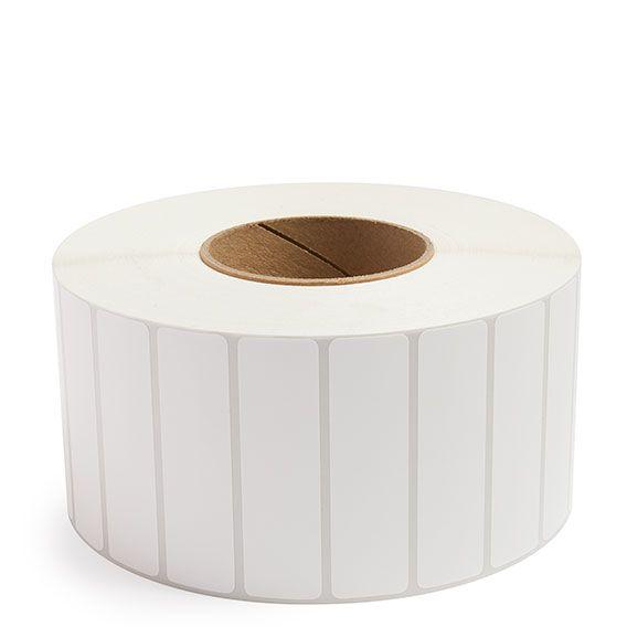 "3.5"" x 1"" White Matte Paper - Thermal Transfer Labels - 3"" Core"