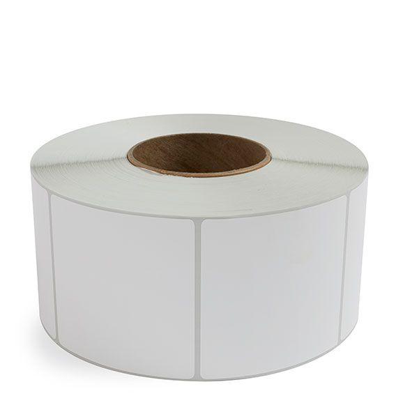 "3.5"" x 3.5"" White Matte Paper - Thermal Transfer Labels - 3"" Core"