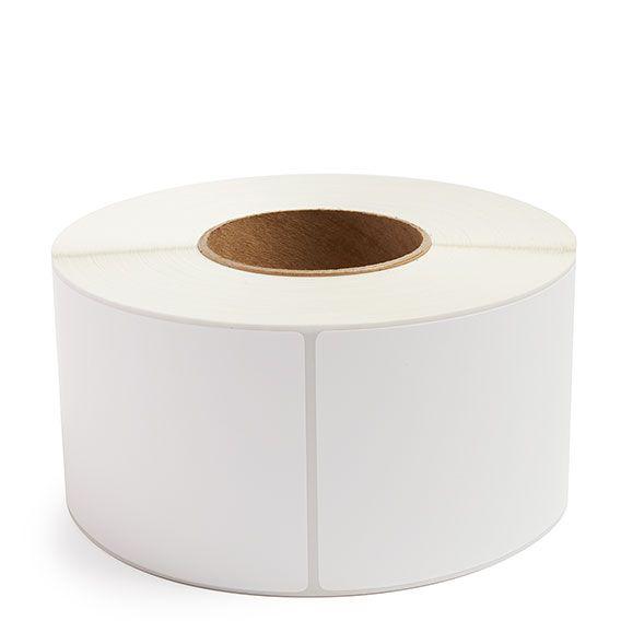 "3.5"" x 8"" White Matte Paper - Thermal Transfer Labels - 3"" Core"