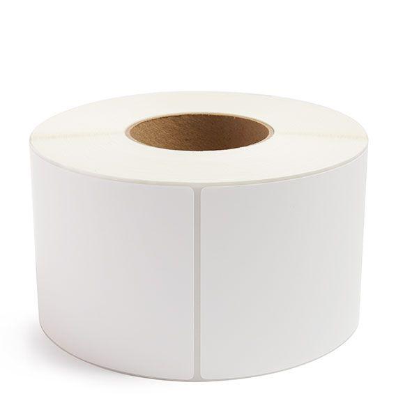 "4"" x 12"" White Matte Paper - Thermal Transfer Labels - 3"" Core"