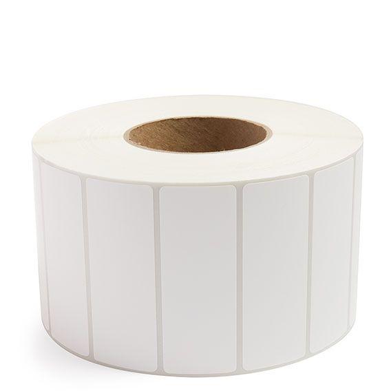 "4"" x 1.5"" White Matte Paper - Thermal Transfer Labels - 3"" Core"