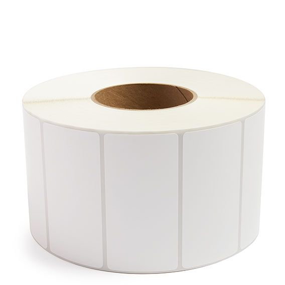 "4"" x 2"" White Matte Paper - Thermal Transfer Labels - 3"" Core"