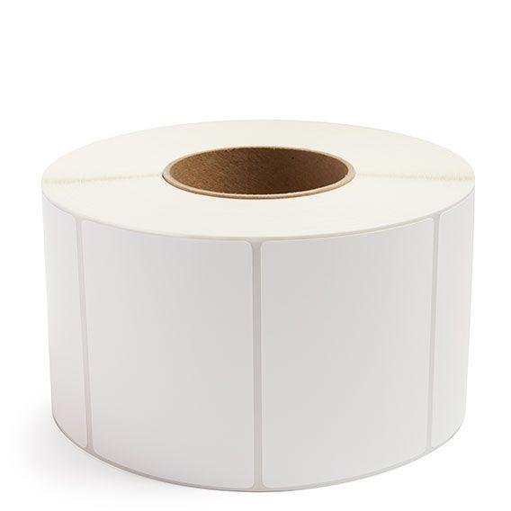 "4"" x 3"" White Matte Paper - Thermal Transfer Labels - 3"" Core (No Perf)"