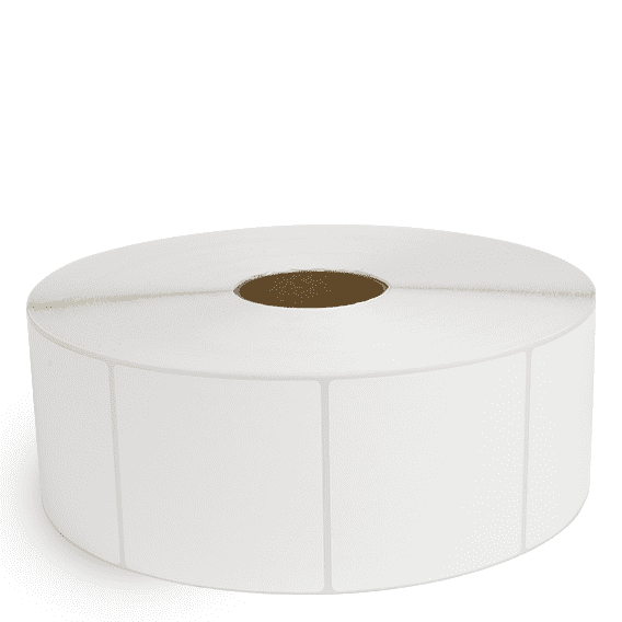 """4"""" x 4"""" White Matte Paper - Thermal Transfer Labels - 3"""" Core / 12"""" Outer Diameter (No Perf)"""
