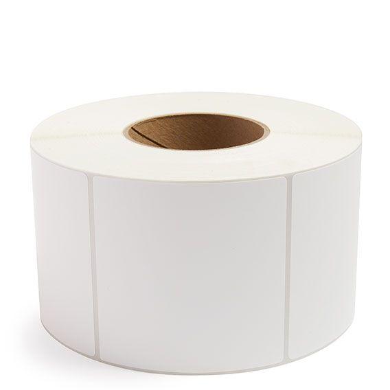 "4"" x 4"" White Matte Paper - Thermal Transfer Labels - 3"" Core"