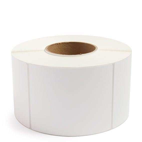 "4"" x 5"" White Matte Paper - Thermal Transfer Labels - 3"" Core"