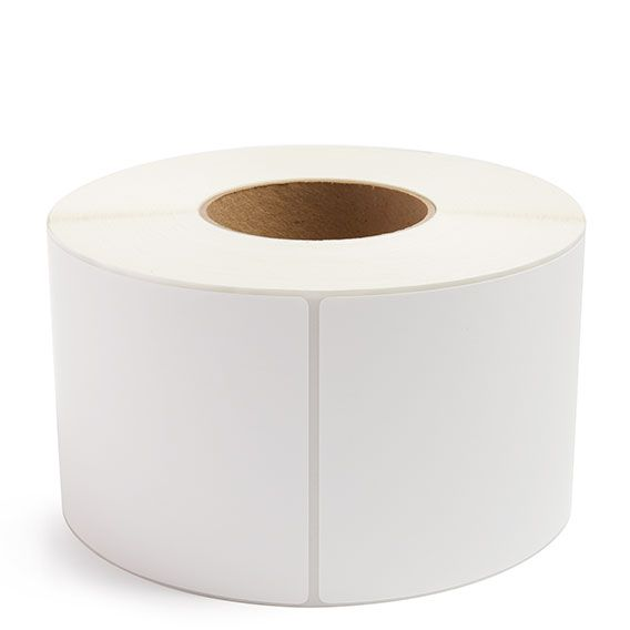 "4"" x 8"" White Matte Paper - Thermal Transfer Labels - 3"" Core (No Perf)"