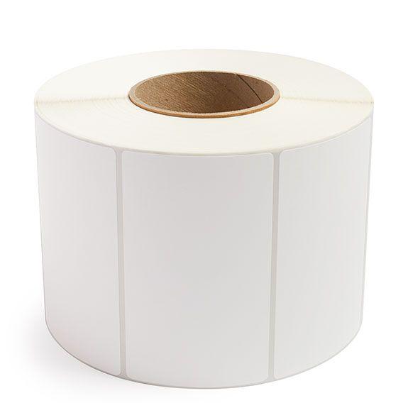 "5"" x 3"" White Matte Paper - Thermal Transfer Labels - 3"" Core"